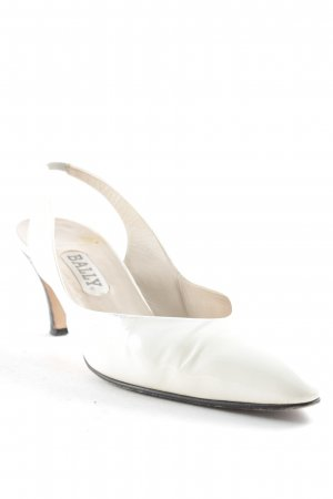 Bally Slingback Pumps cream simple style