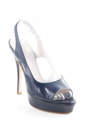 Bally Slingback-Pumps dunkelblau Party-Look