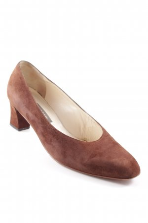 Bally Spitz-Pumps braun Vintage-Look
