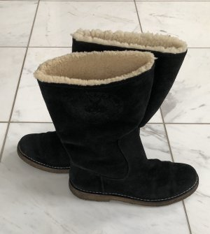Bally Fur Boots black