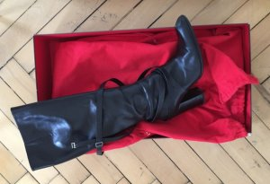 Bally Heel Boots black leather