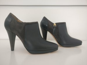 Bally Zipper Booties dark grey-slate-gray
