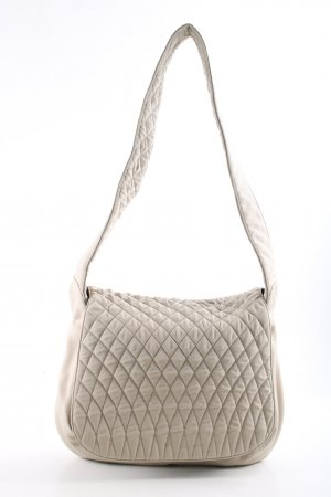 Bally Canvas Bag cream quilting pattern casual look