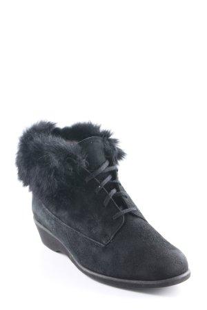 BALLY SUISSE Schnür-Stiefeletten schwarz Casual-Look