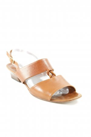 Bally T-Strap Pumps cognac-coloured casual look