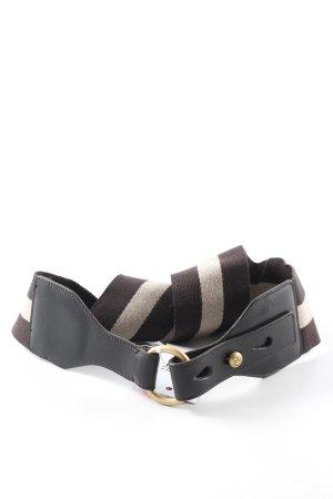 Bally Cintura vita marrone scuro-beige Stile anni '90