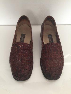 Bally Vintage Schuhe aus geflochtenem Leder