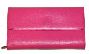 Bally Portefeuille rose cuir