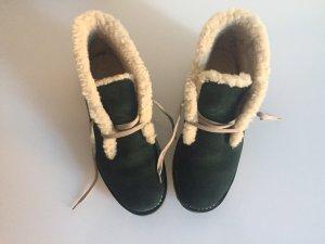 Bally Chaussures à lacets vert foncé