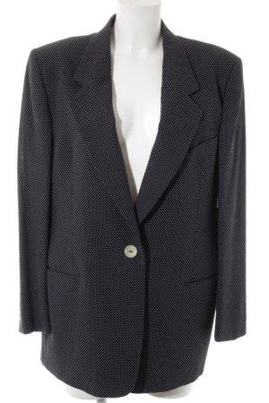 Bally Woll-Blazer weiß-dunkelblau Punktemuster Business-Look