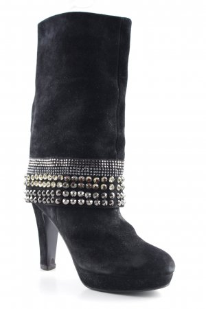 Balmain Absatz Stiefel schwarz Street-Fashion-Look