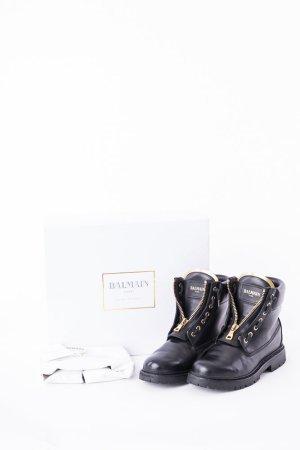 BALMAIN - Ankle Boots Taiga Schwarz Gr. 38
