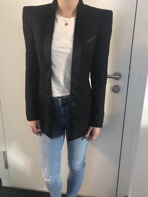 Balmain Blazer de esmoquin negro