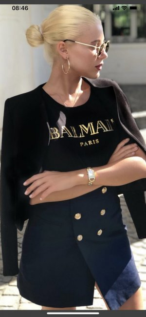 Balmain T-shirt oro-nero