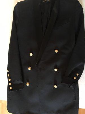 Balmain for H&M Lange blazer zwart-goud
