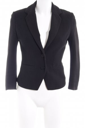 Balmain for H&M Kurz-Blazer schwarz Business-Look
