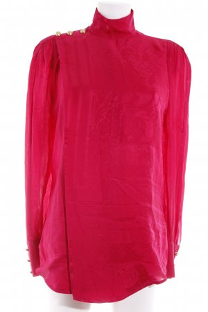 Balmain for H&M Long Sleeve Blouse raspberry-red-gold-colored abstract pattern