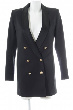 Balmain for H&M Long-Blazer schwarz Elegant