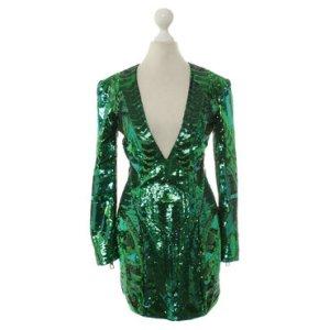Balmain for H&M Paillettenkleid grün Gr. 34/XS