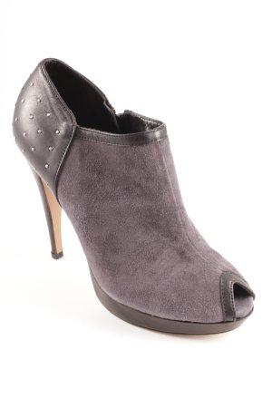 Balmain High Heels schwarz-grau Rockabilly-Look