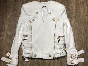 Balmain Jacke Gr 40 weiß
