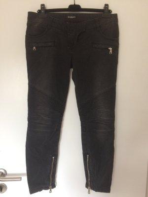 Balmain Jeans grau schwarz gr 36