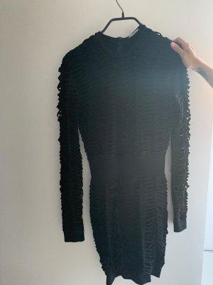 Balmain Vestido de noche negro Algodón