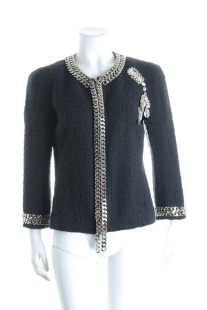 Balmain Kurzjacke schwarz-silberfarben Eleganz-Look
