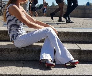 Balmain luxus Designer Bell Bottom flared denim Schlaghose Jeans sommer sailor hippie Ibiza boho