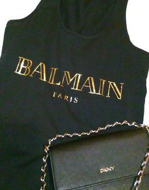 Balmain Camisa negro-color oro