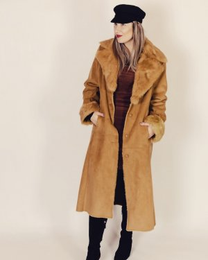 Balmain Manteau d'hiver chameau-brun