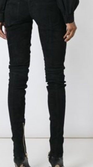 BALMAIN Skinny Bikerjeans 36 schwarz 28 JADES Zipper