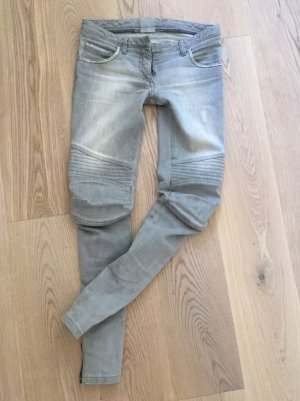 Balmain Jeans da motociclista grigio chiaro-grigio