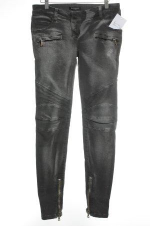 Balmain Slim Jeans grau-silberfarben Casual-Look