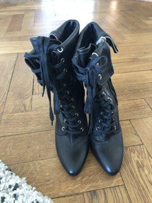 Balmain Zipper Booties black