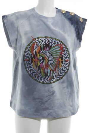 Balmain T-Shirt abstrakter Druck Casual-Look