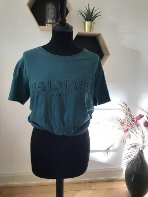 Balmain T-shirt petrolio-blu cadetto