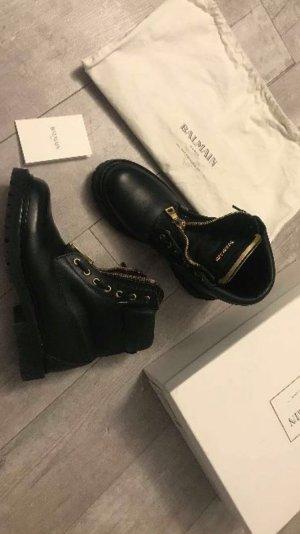 Balmain Botas negro-marrón arena Cuero