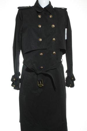 Balmain Gabardina negro elegante