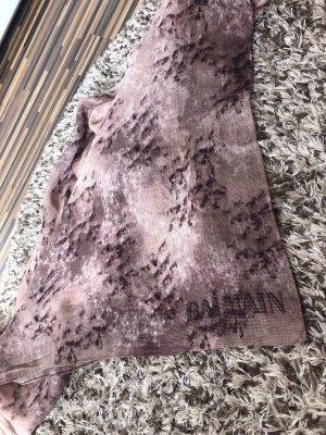 Balmain Fazzoletto da collo color oro rosa-marrone-viola
