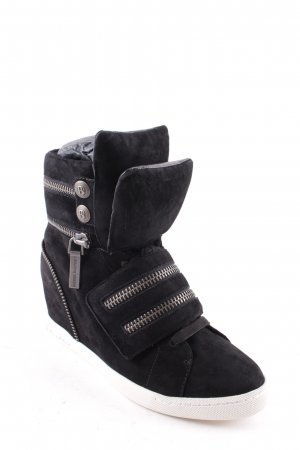 "Balmain Wedge Sneaker ""Molly Wedge Sneaker Suede Black "" schwarz"