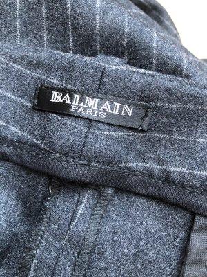 Balmain Pantalón de lana gris antracita-beige claro