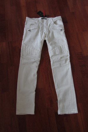 BALMAIN x H M Biker Jeans weiß used look W31 (Damen 40 42) NEU UNGETRAGEN