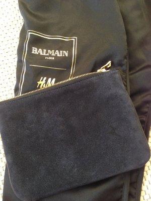 Balmain X H&M clutch Navy Wildleder Suede