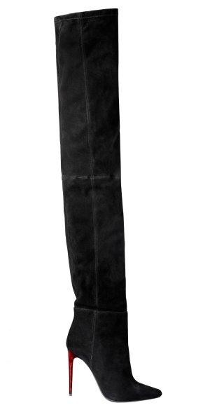 Balmain x H&M Schwarze Wildleder Overknee Boots