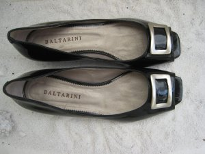 Baltarini Business Shoes black-silver-colored leather