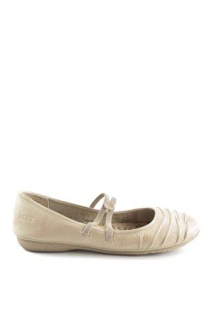 Bama Strappy Ballerinas cream casual look