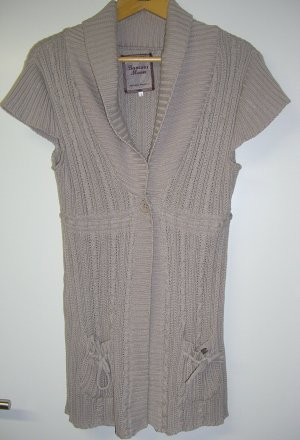Long Knitted Vest grey lilac