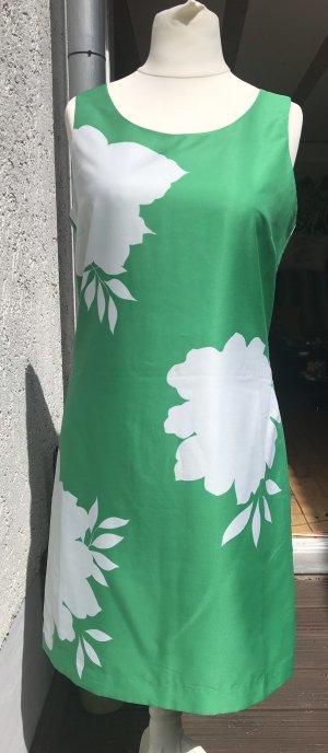 Banana Republic Vestido ceñido de tubo blanco-verde