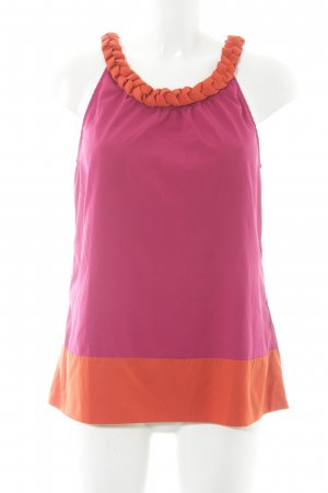 Banana Republic A-lijn top magenta-oranje colour blocking Beach-look